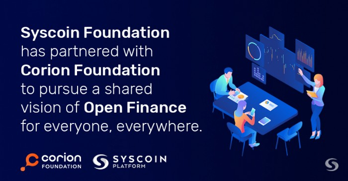 Driving Stablecoin Adoption: Corion and Syscoin Foundation Enter Partnership