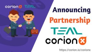 CorionX and AI Start-Up TEAL join hands to develop a sustainable crypto currency system